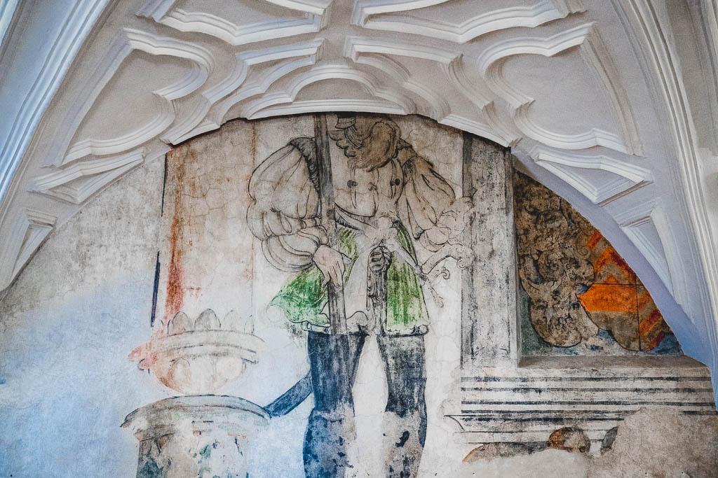 Wandmalerei Brüder Grimm Ausstellung im Schloss Steinau im Spessart