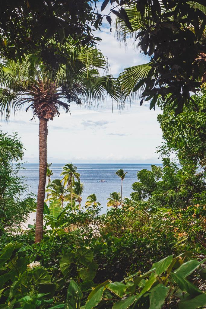 Ausblick auf das Meer Hotel Sugar Beach Resort Saint Lucia