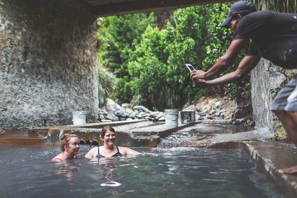 Schlammbad Vulkan Sulphur Springs Saint Lucia