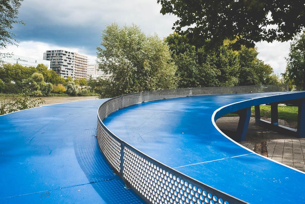 Tischtennis Île de Nantes Frankreich