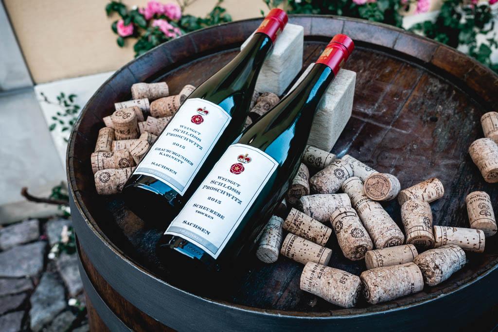 Weinprobe und Übernachtung im Weingutshof Schloss Proschwitz in Sachsen