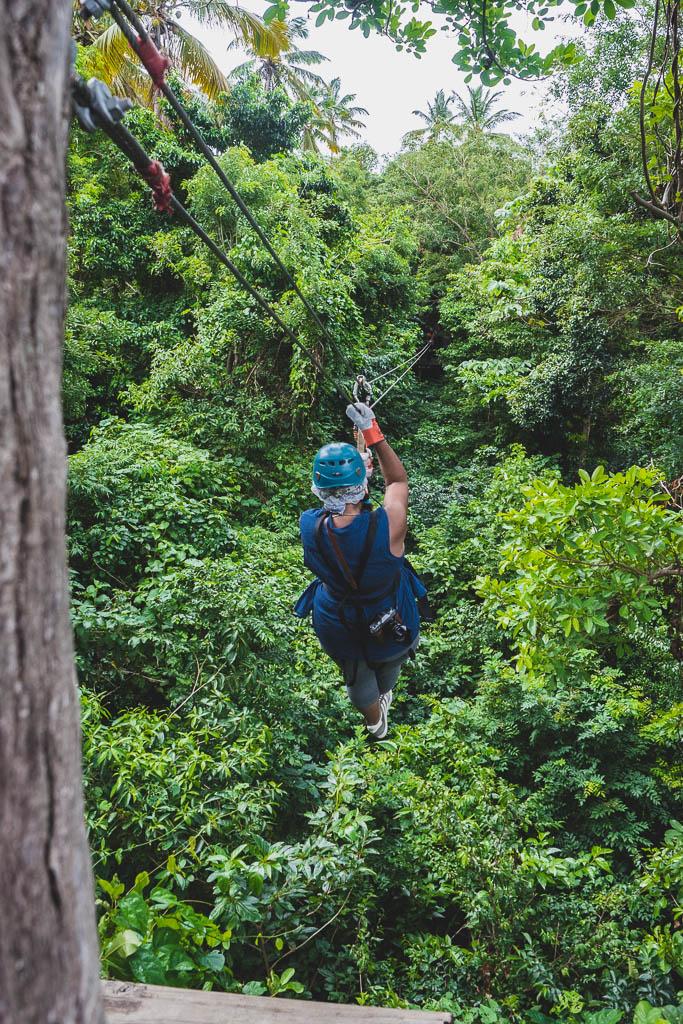Zipline im Morne Coubaril Historical Adventure Park Saint Lucia