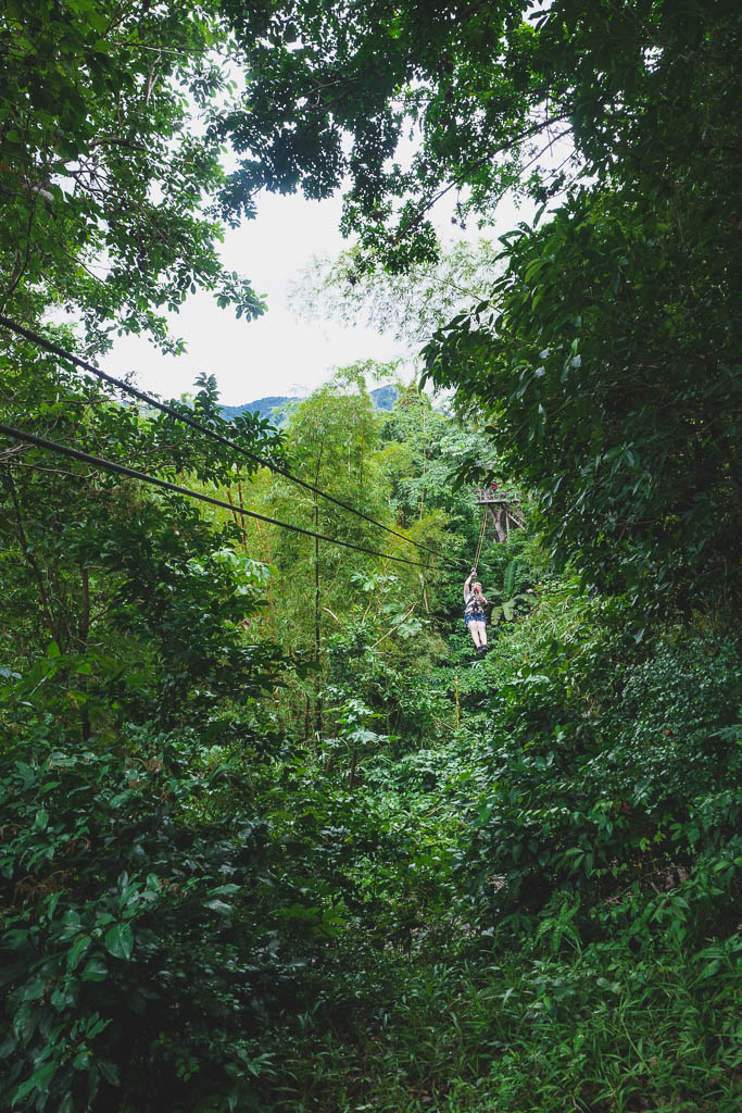 Zipline im Morne Coubaril Historical Adventure Park Saint Lucia