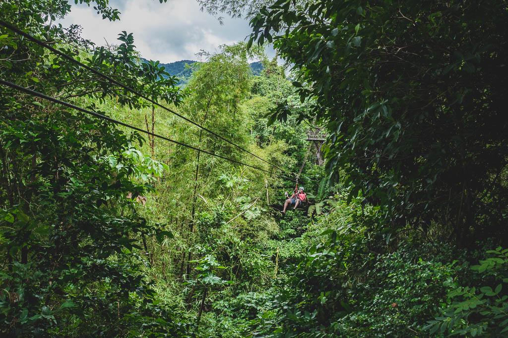 Zipline im Morne Coubaril Historical Adventure Park