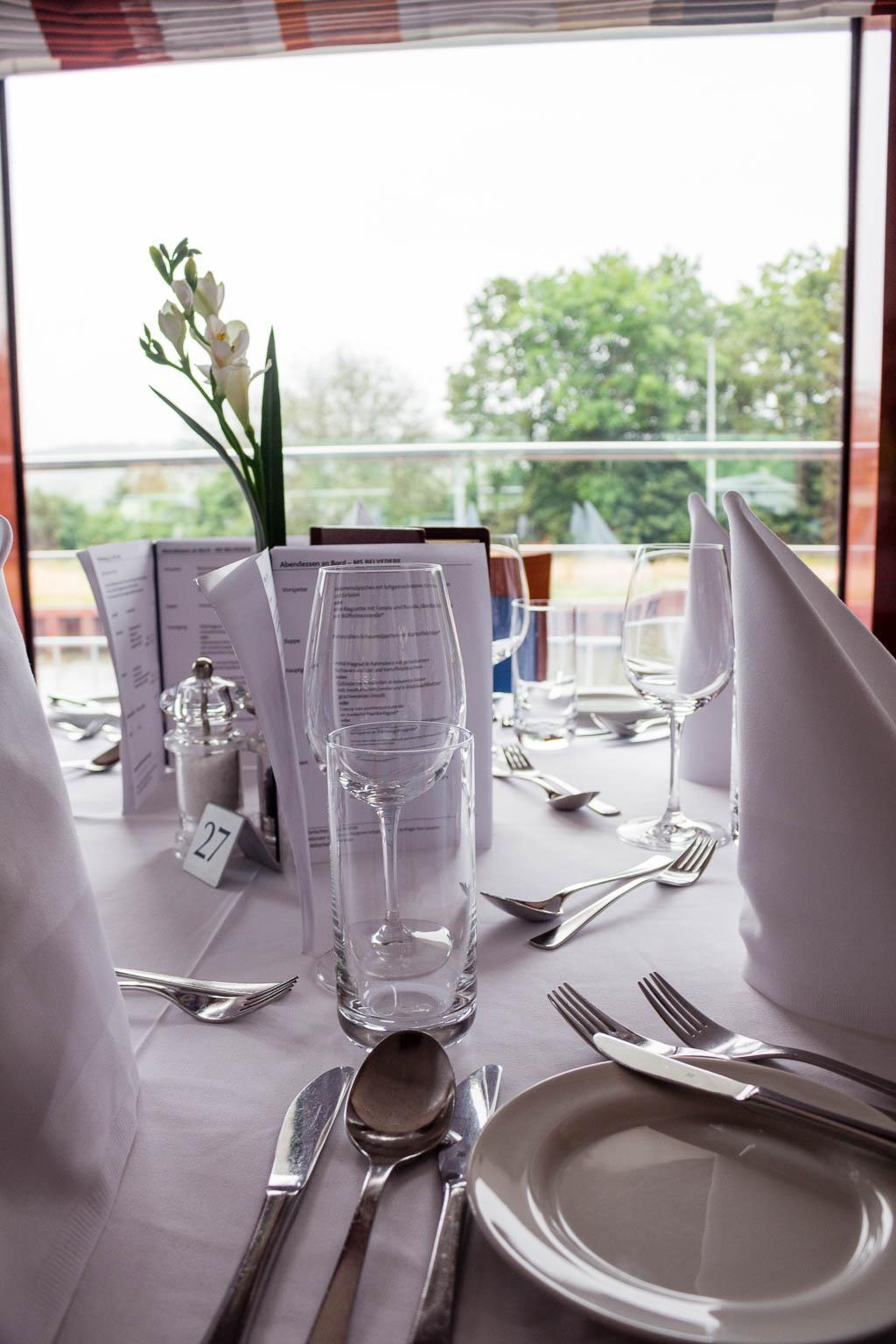 Restaurant Flusskreuzfahrt Main-Donau-Kanal: Von Passau nach Frankfurt am Main mit der MS BELVEDERE