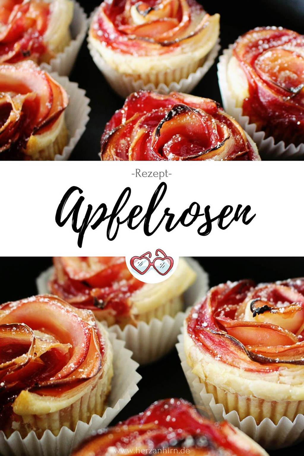 Apfelrosen Pinterest Grafik