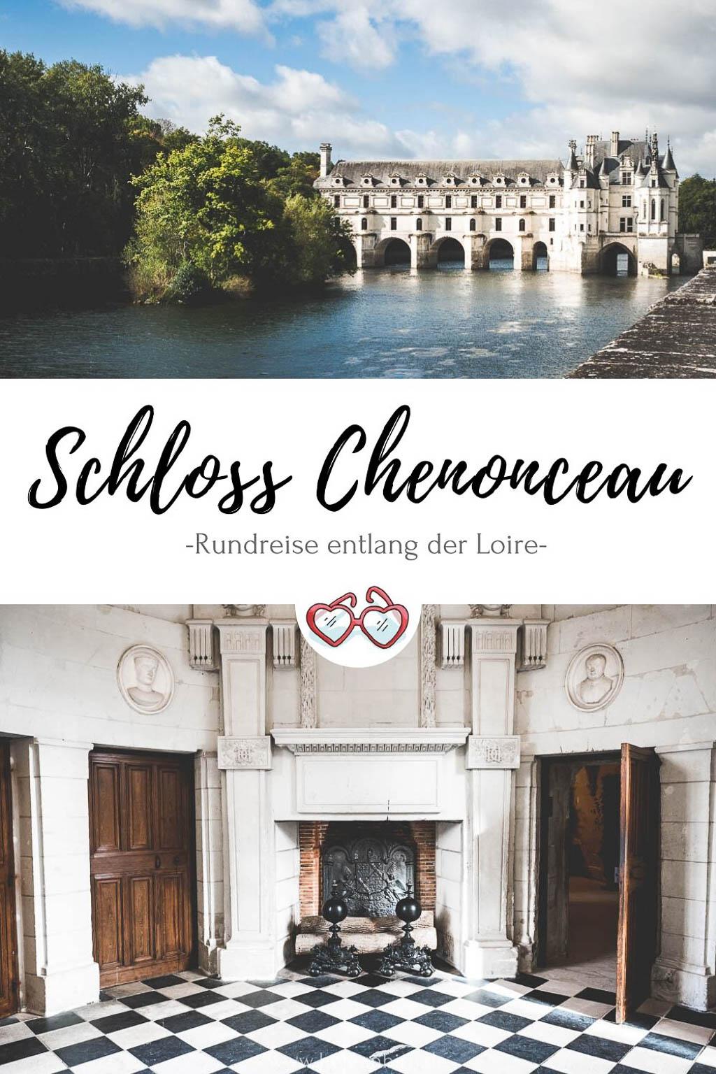 Schloss Chenonceau Pinterest Grafik