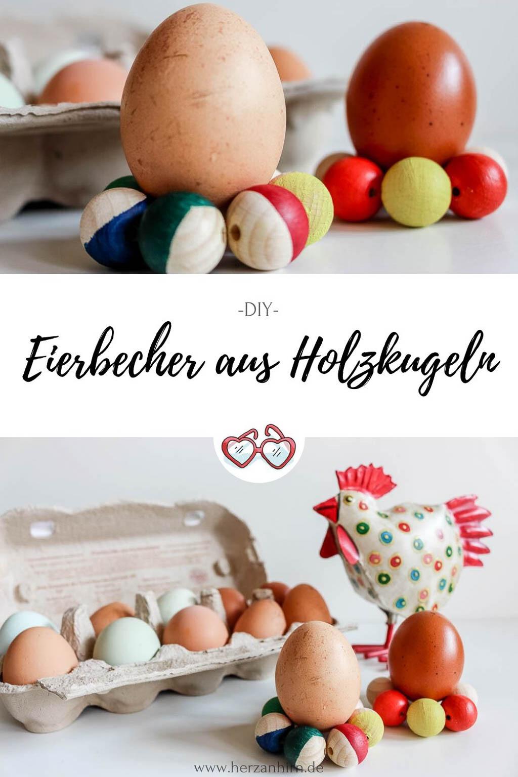 Eierbecher aus Holzkugeln Pinterest Grafik