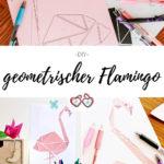 geometrischer Flamingo Pinterest Grafik