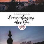 Sonnenuntergang Rom Pinterest Grafik