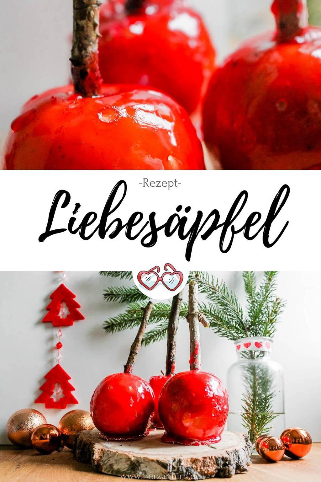 Rezept Liebesäpfel Pinterest Grafik