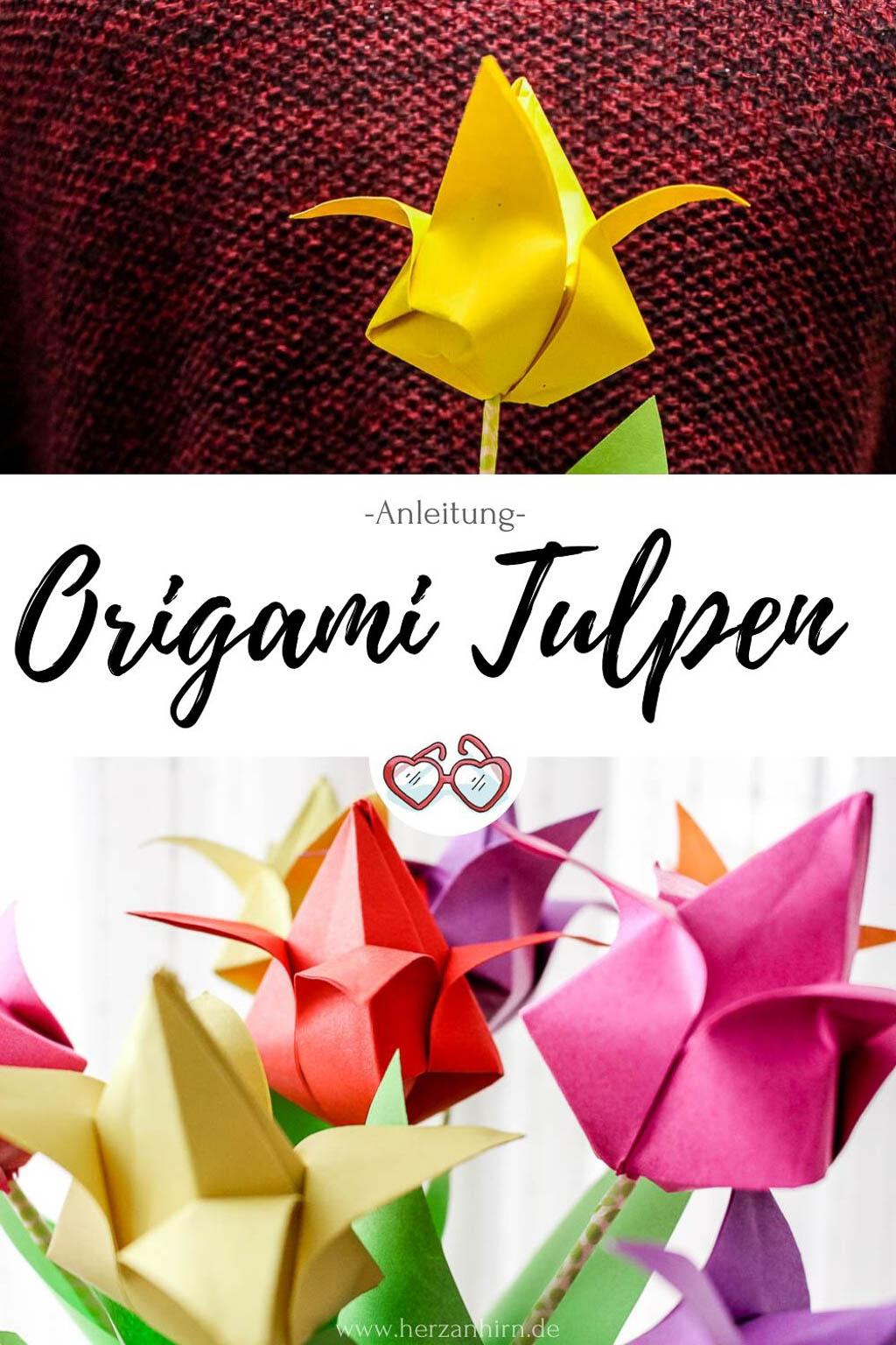 Origami Tulpen Pinterst Grafik