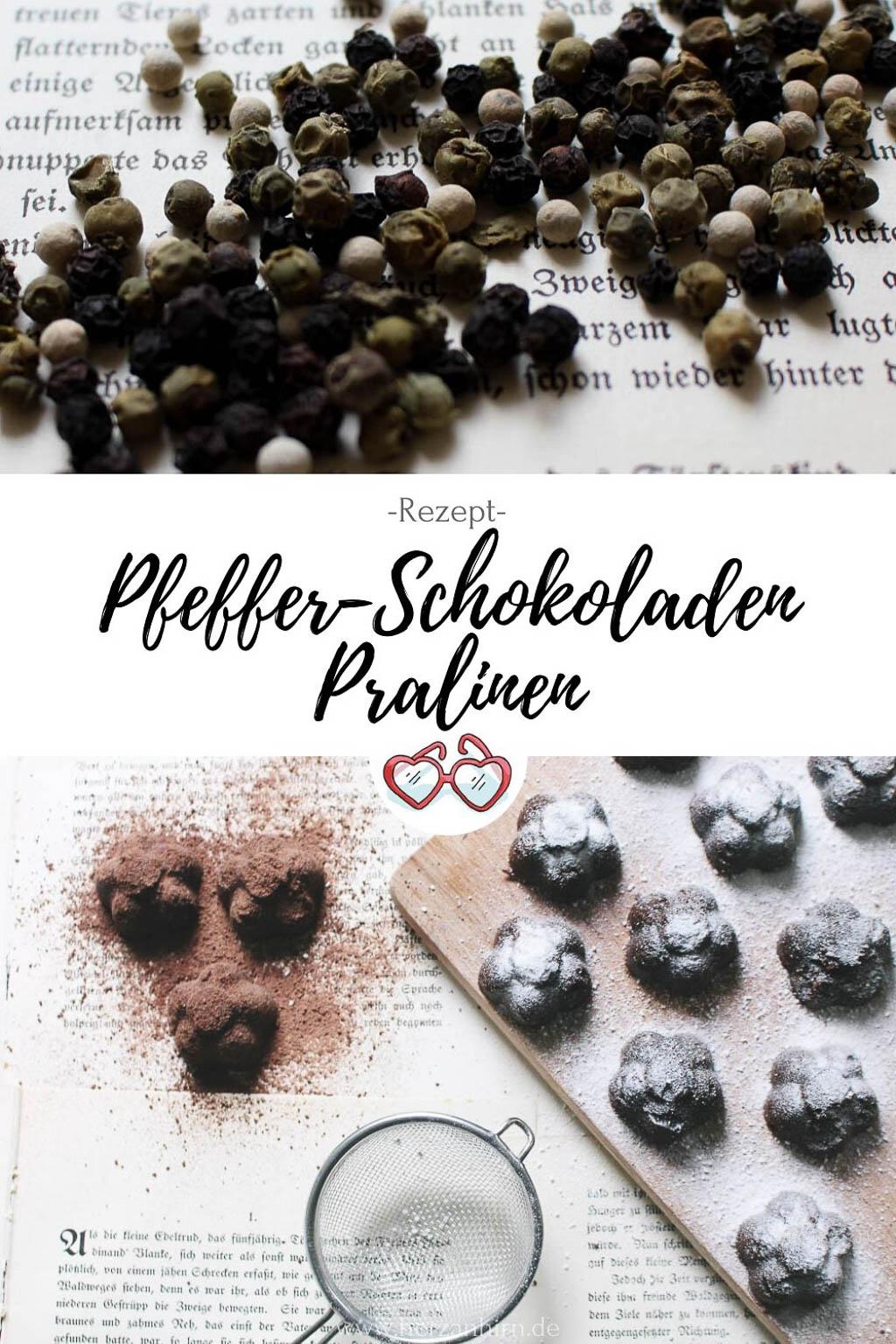 Pfeffer-Schokoladen Pralinen Pinterest Grafik