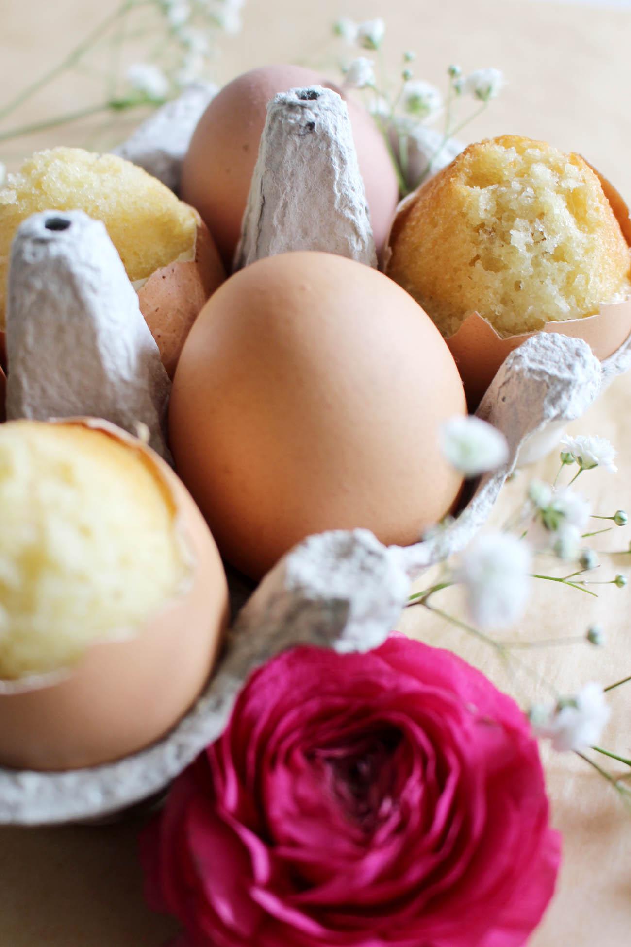 Rezept für versteckten Kuchen im Osterei