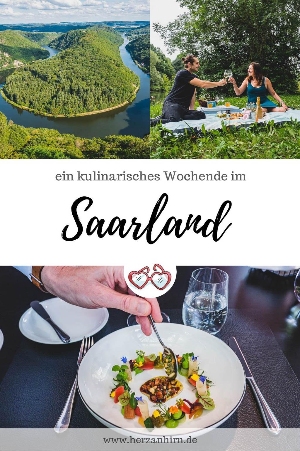 Pinterest Grafik ein kulinarisches Wochenende im Saarland