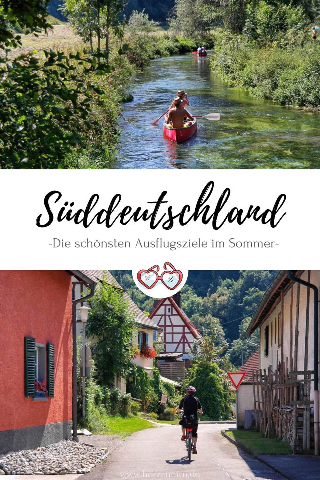 Sommerurlaub Süddeutschland Pinterest Grafik