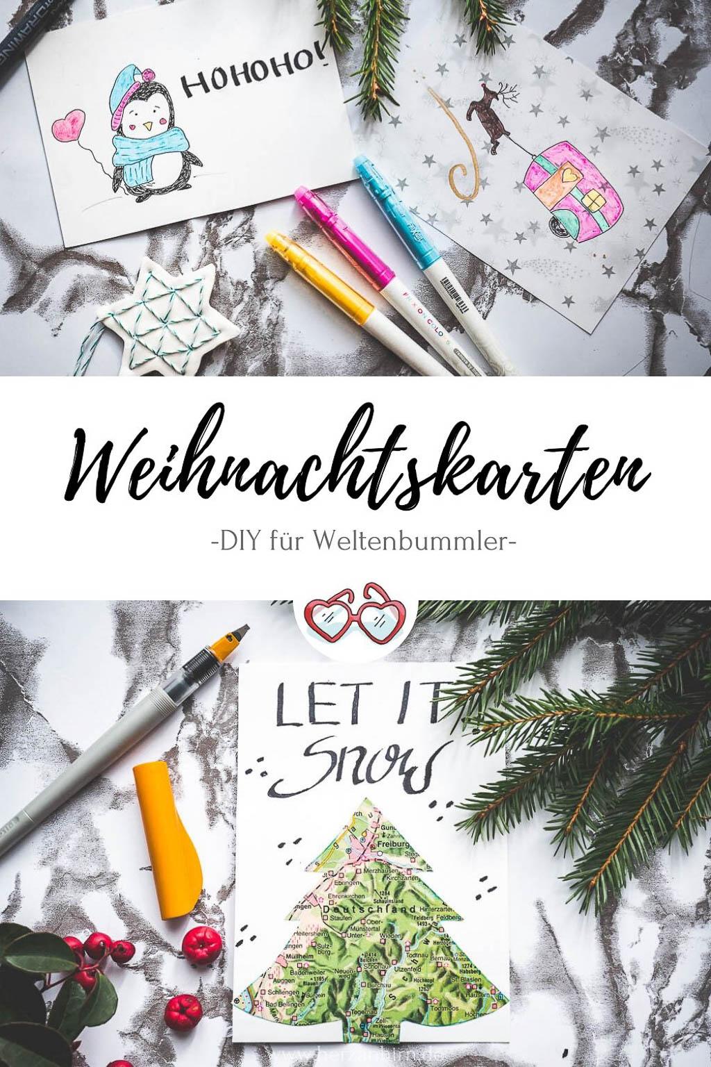 Weihnachtskarten Pinterest Grafik