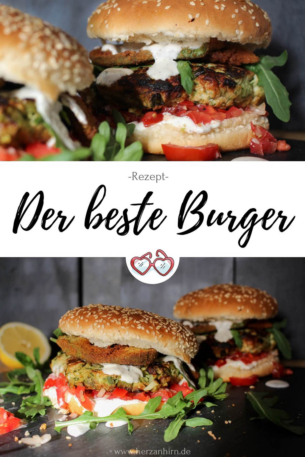 Zucchini-Puten-Burger Rezept Pinterest Grafik