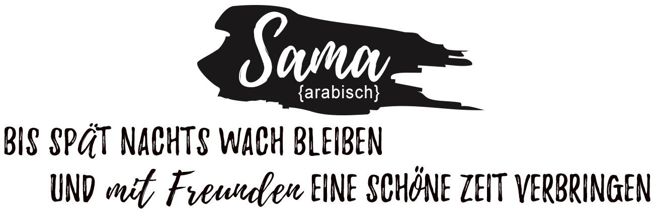 Bild Begriff Sama - Bedeutung des Sprichwortes - Tablett Ansicht