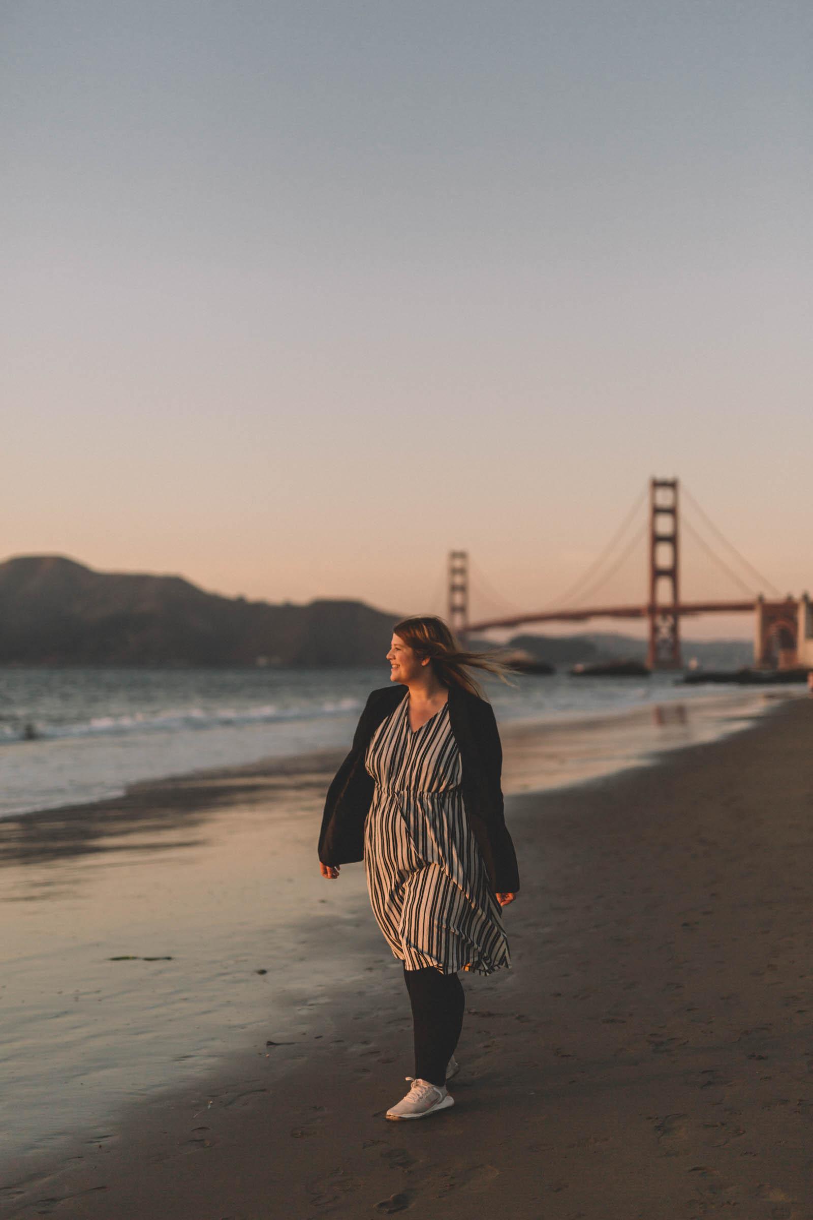 Sonnenuntergang am Baker Beach San Francisco in 3 Tagen aktiv entdecken – Reisetipps, Highlights und besondere Aktivitäten