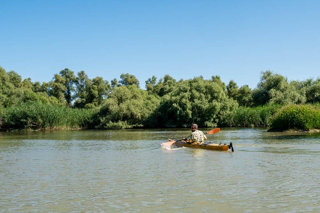 Kanu Bootstour von Tulcea in das Donaudelta Rumänien