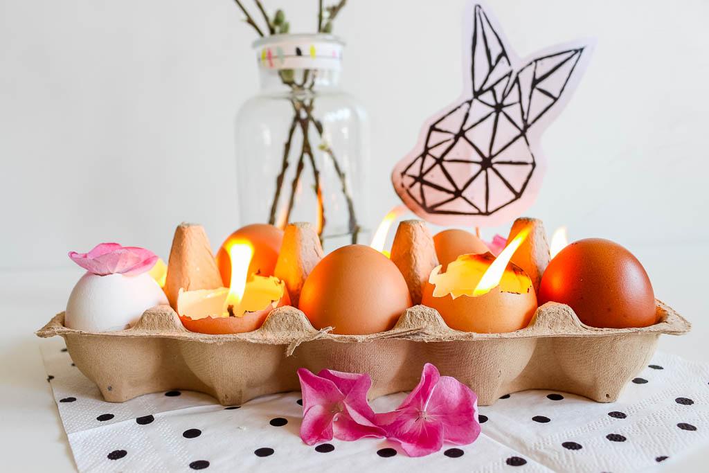 Eierkerzen basteln: Dekoration für Ostern