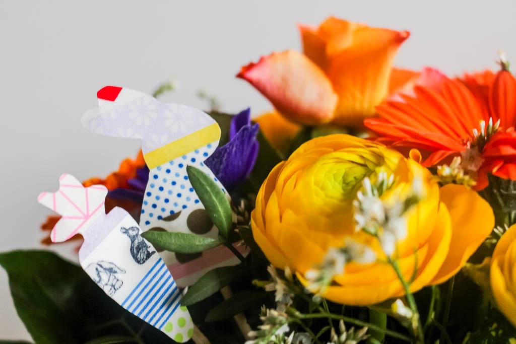 Masking Tape Blumenstecker: Dekoration für Ostern