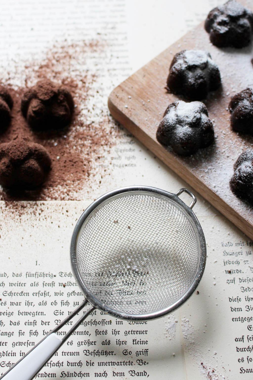 Rezept für Pfeffer-Schokoladen Pralinen