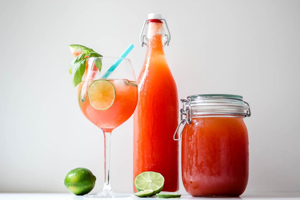 Rezept für Melonen Basilikum Limonade