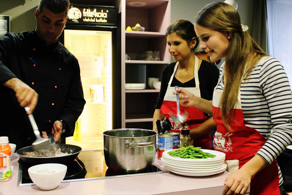 Kochen in der Meininger Gästeküche in Wien
