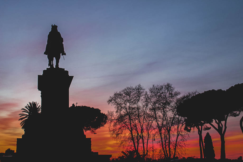 Geheimtipp Rom Sonnenuntergang auf dem Gianicolo