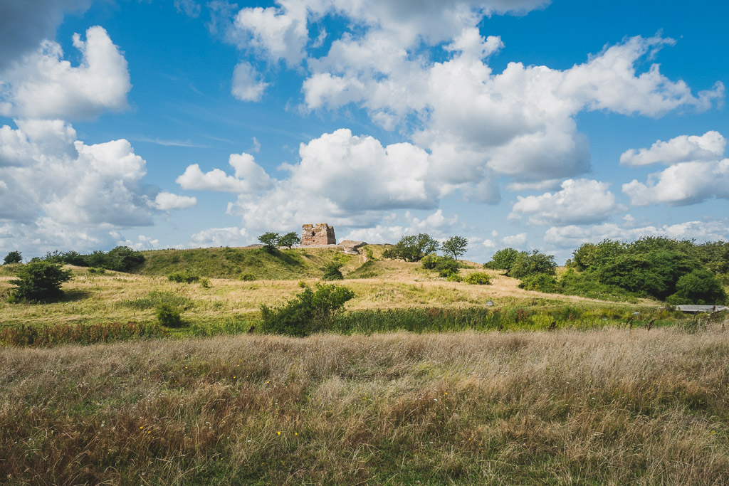 Schlossruine Kalø im Nationalpark Mols Bjerge Urlaub in Djursland: Ausflugsziele und Sehenswürdigkeiten rund um Ebeltoft Dänemark
