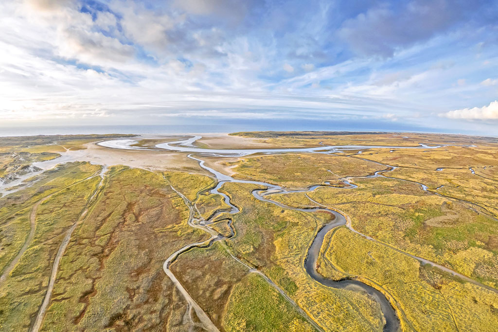 Luftaufnahme De Slufter Texel Foto Justin Sinner