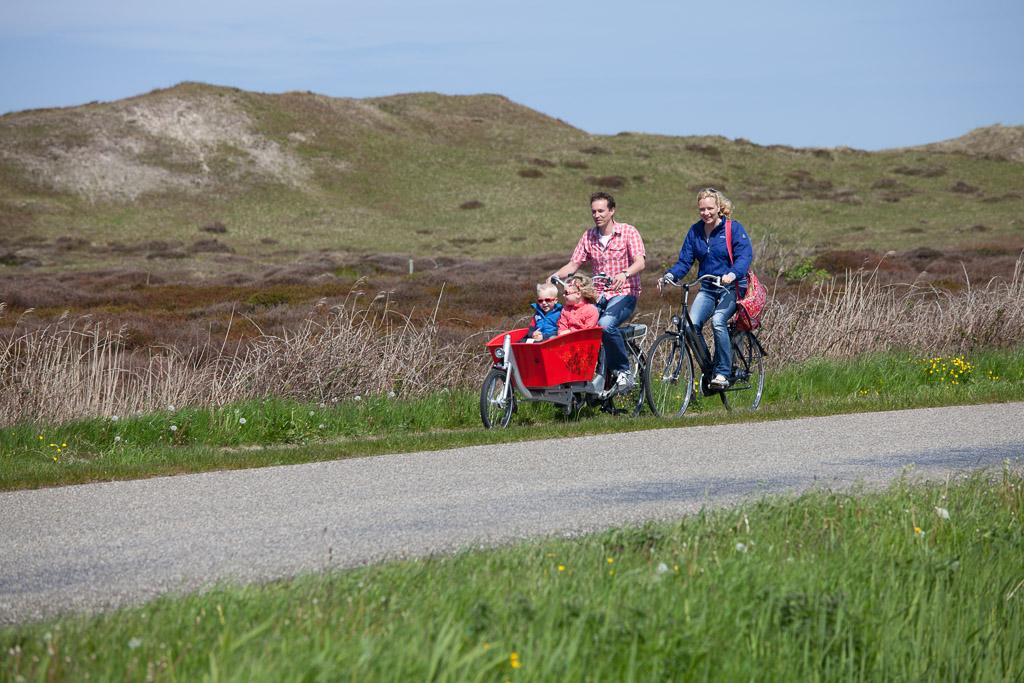 Texel Radfahren durch die Dünen Foto Tessa Jol