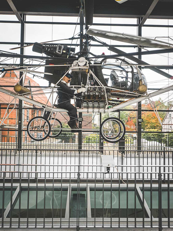 Weserbergland Sehenswürdigkeit Hubschraubermuseum Bückeburg