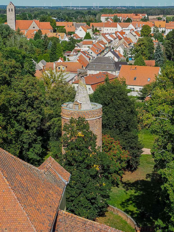 Ausblick Burg Ziesar in Brandenburg