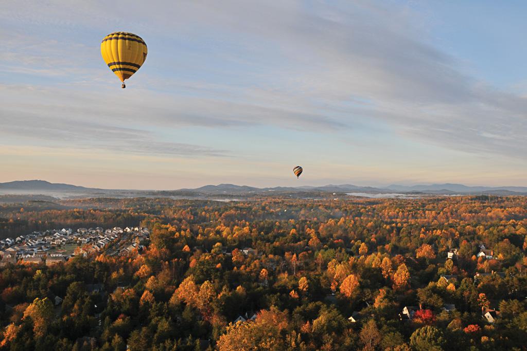 Capital Region USA Virginia Heißluftballon