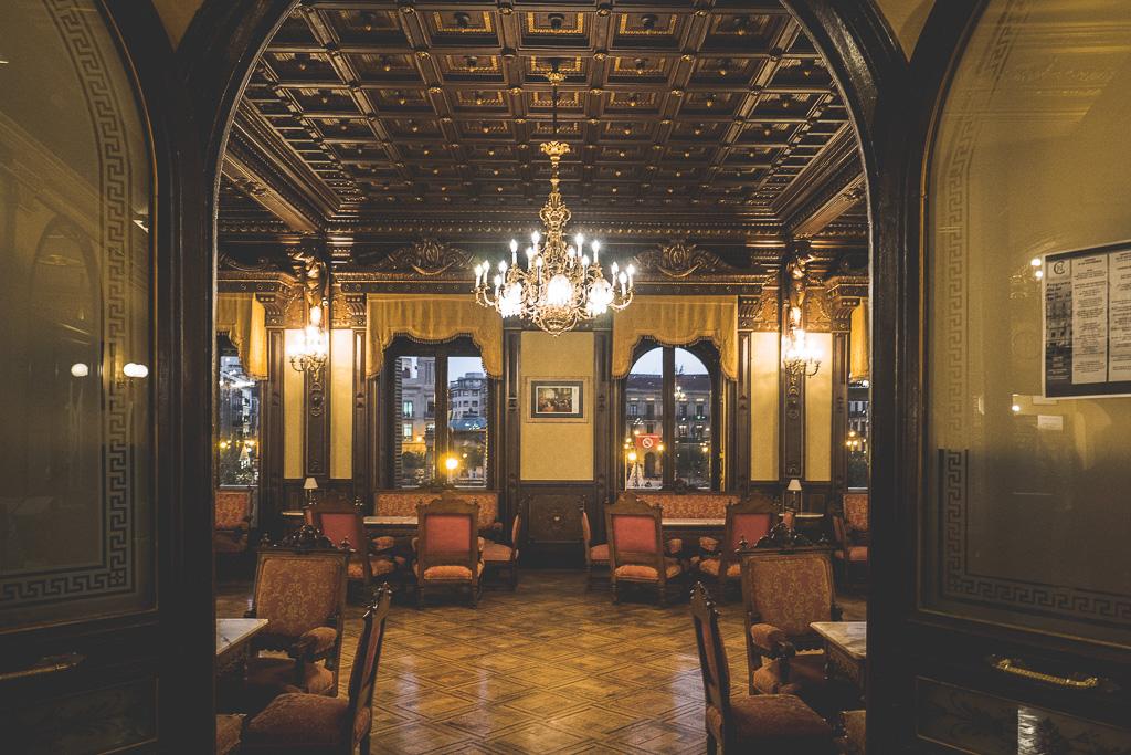 Café Iruña in Pamplona in der Navarra in Spanien