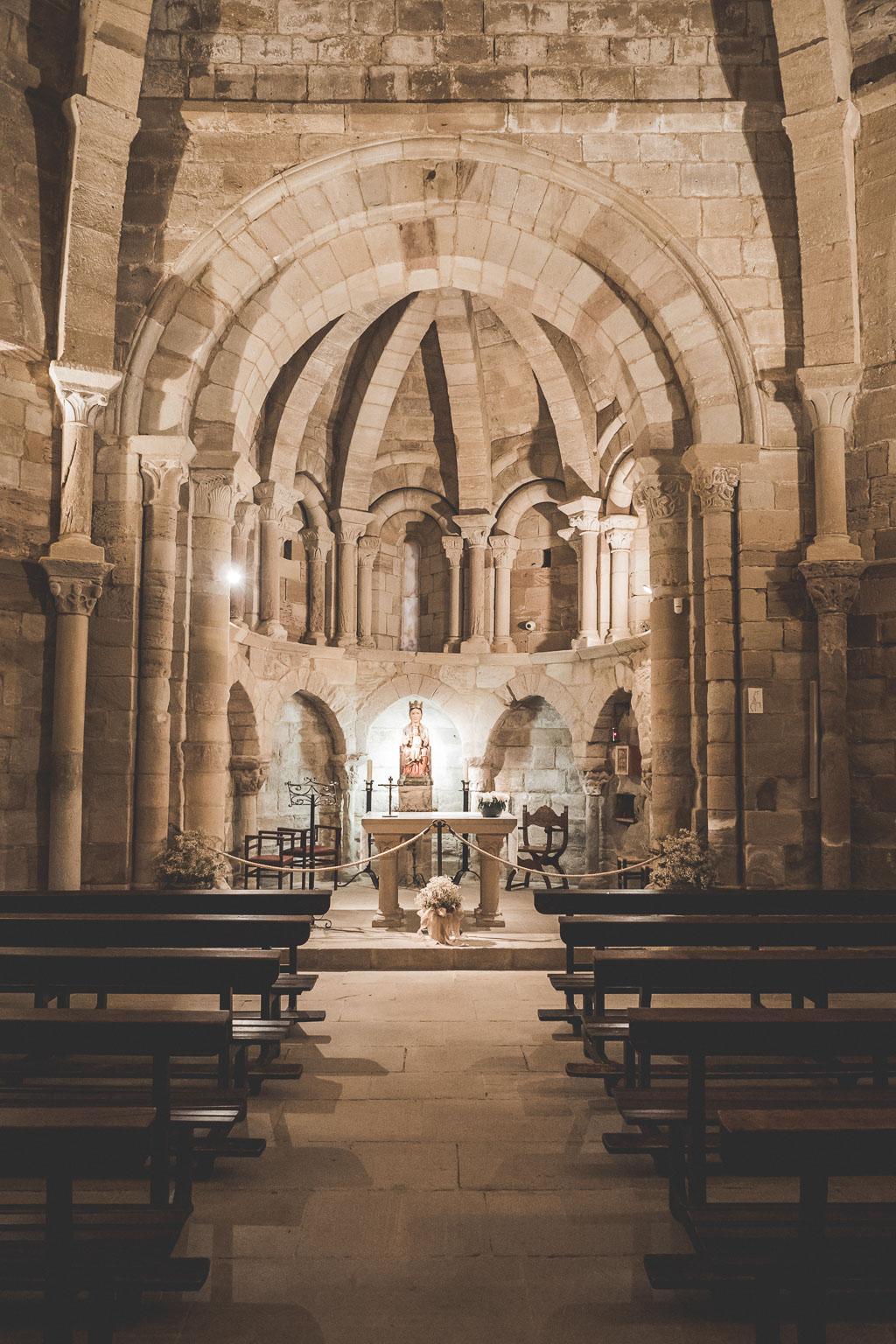 Kapelle Santa María de Eunate in der Navarra in Spanien