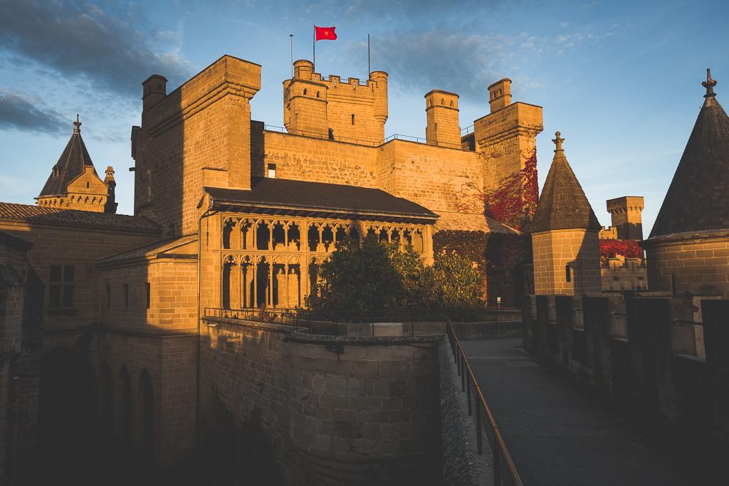 Palast von Olite in der Navarra in Spanien