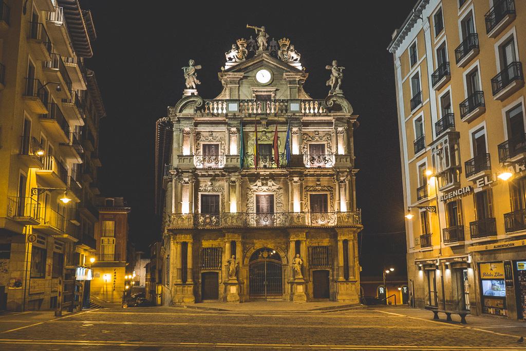 Rathaus Pamplona in der Navarra in Spanien