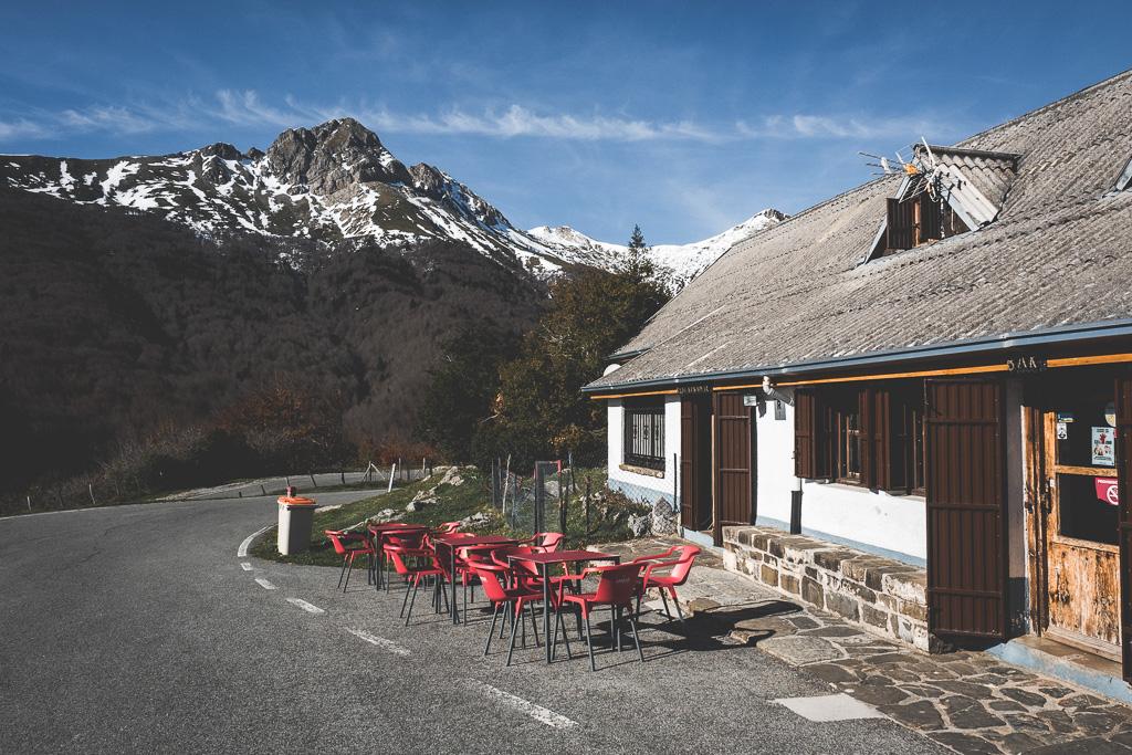 Restaurante Venta in den Pyrenäen in der Navarra in Spanien