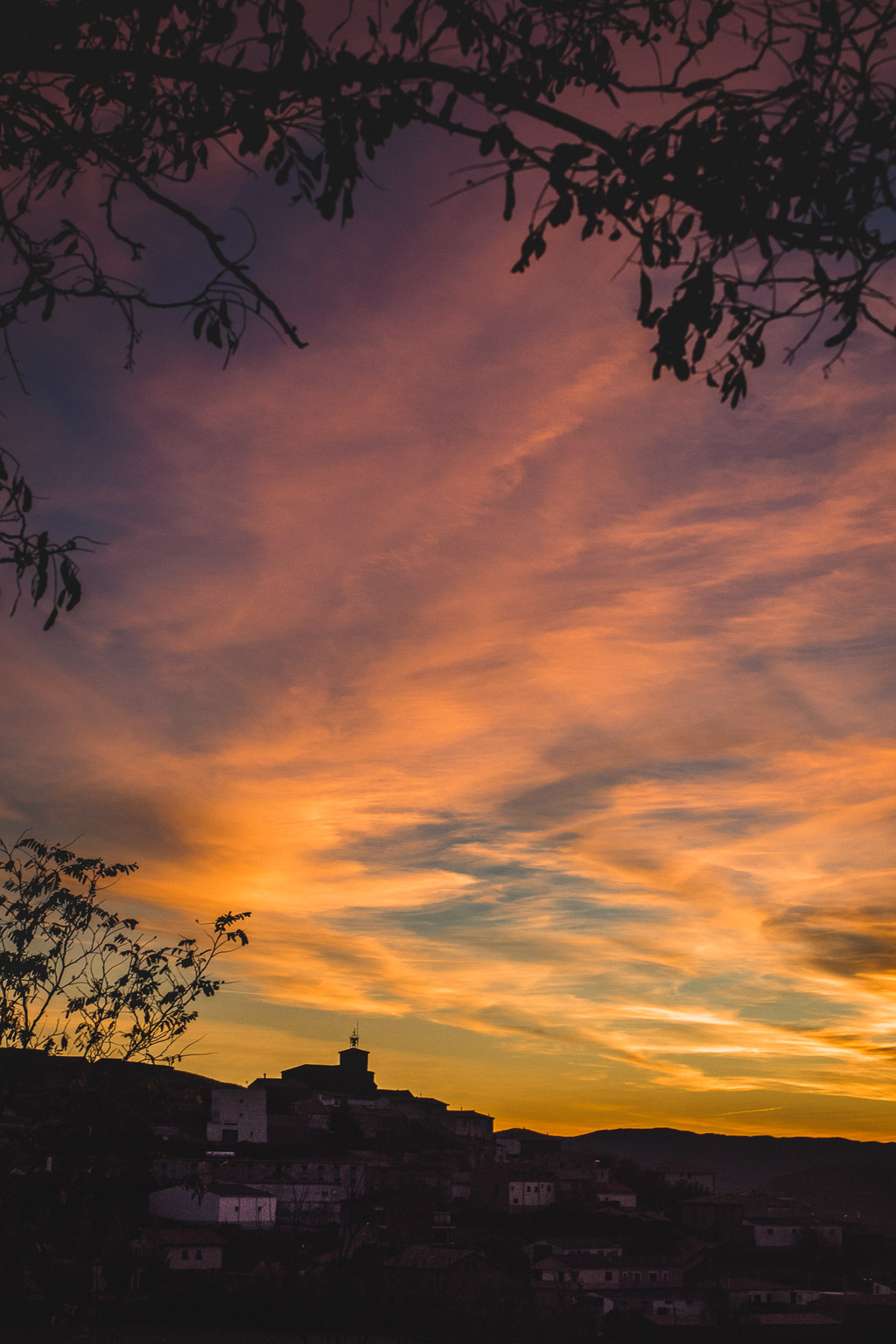 Sonnenuntergang in der Navarra in Spanien