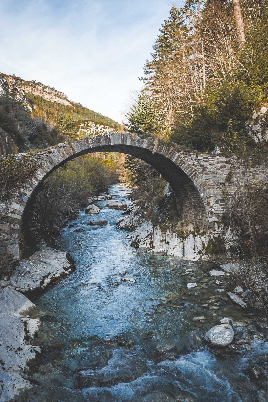 Wandern in den Pyrenäen in der Navarra in Spanien