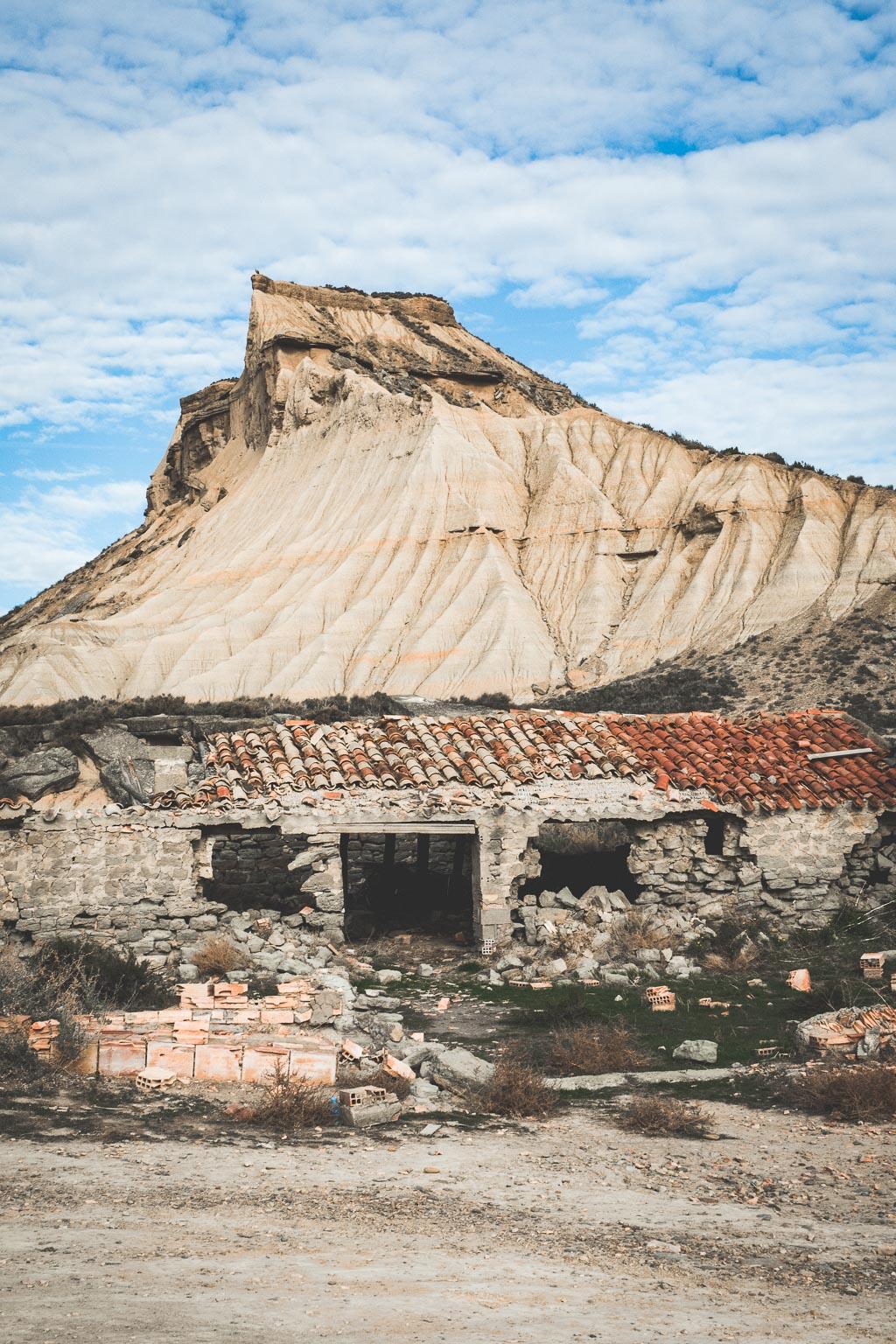 Bardenas Reales Wüste in der Navarra in Spanien
